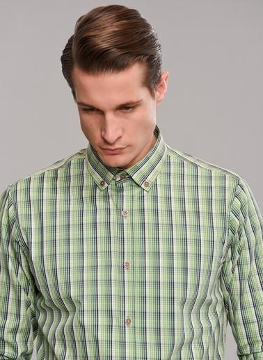 People By Fabrika Düğmeli Yaka Gömlek Yeşil